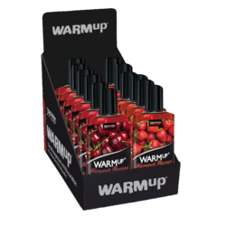 14329 WARMup massage liquid Display Strawberry Cherry