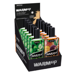 14339 WARMup massage liquid Display Maracuya Green Apple